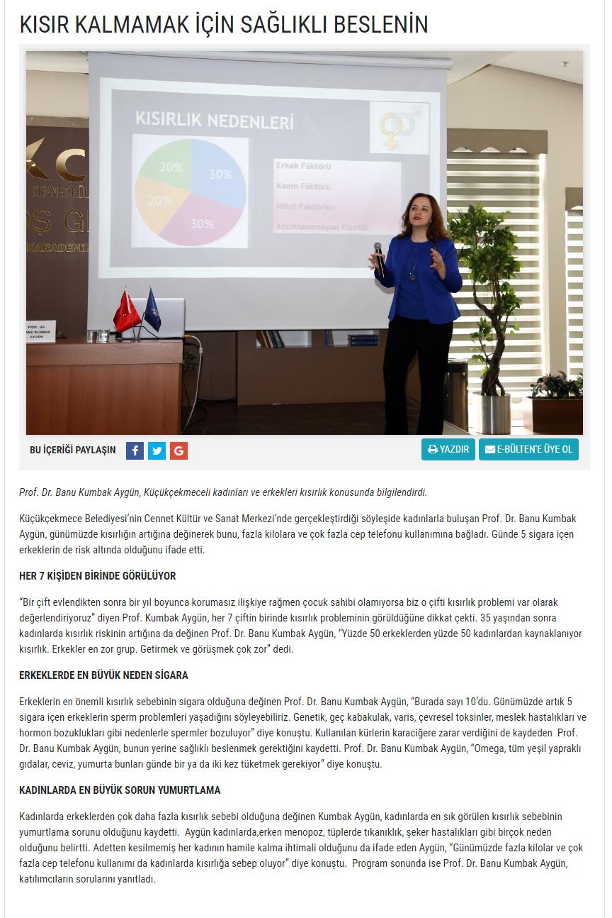www.kucukcekmece.istanbul  Kısırlık Arttı Mı? Her Yönü İle Kısırlık Tedavileri Kasım 2018 3