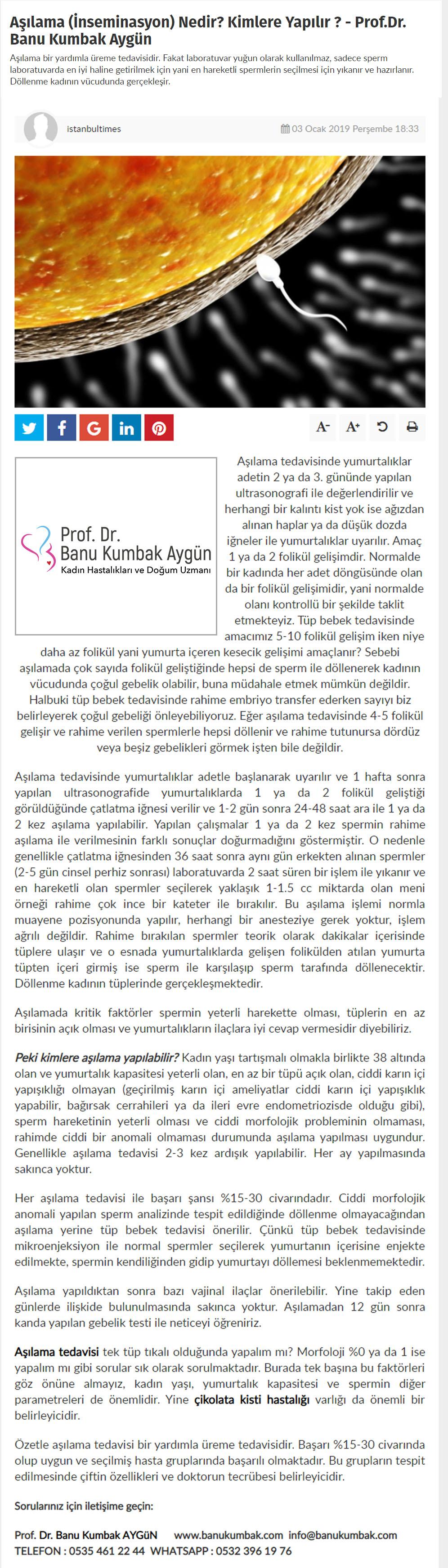 istanbultimes.com.tr - Aşılama (İnseminasyon) Nedir? Kimlere Yapılır ? - Ocak - 2019 3