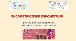 Endometriozis de Endometrium, 13. Ulusal Jinekoloji Ve Obstetrik Kongresi, Mayıs 2015, Antalya 1