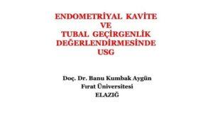 Endometriyal Kavite Ve Tubal Geçirgenlik Değerlendirmesinde USG, Ultrasonografi Kongresi, Ağustos 2012, Antalya 1