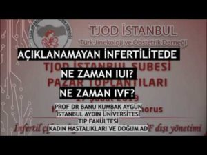 Açıklanamayan İnfertilitede Ne Zaman IUI? Ne Zaman IVF?, TJOD İstanbul, Şubat 2019 1