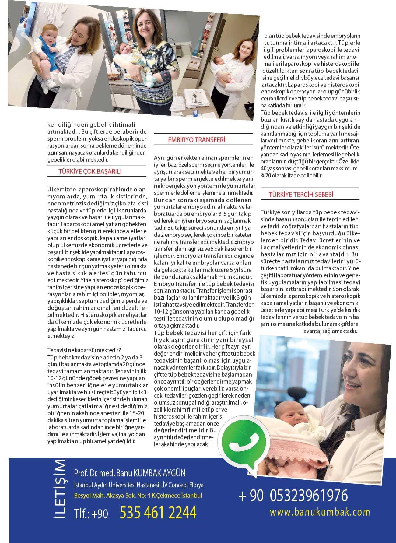 Avrupa Sağlık Dergisi-Türkiye (Kısırlık Tedavisi, Laparoskopi ve Histeroskopi Ameliyatlarında) Neden Tercih Ediliyor? -Nisan - 2018 3