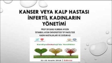 Kanser Veya Kalp Hastası İnfertil Kadınların Yönetimi, Balkan Kardiyoonkoloji Günleri, Kardiyoonkolojide Yenilikler, Aralık 2018, Edirne