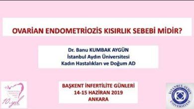 Ovarian Endometriozis Kısırlık Sebebi midir? Başkent İnfertilite Günleri Haziran-2019 Ankara