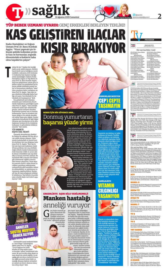 Türkiye Gazetesi 2019 - Kas Geliştiren İlaçlar Kısır Bırakıyor! 1