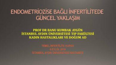 Endometriozise Bağlı İnfertilitede Güncel Yaklaşım Temel İnfertilite Kursu Eylül 2019, İstanbul